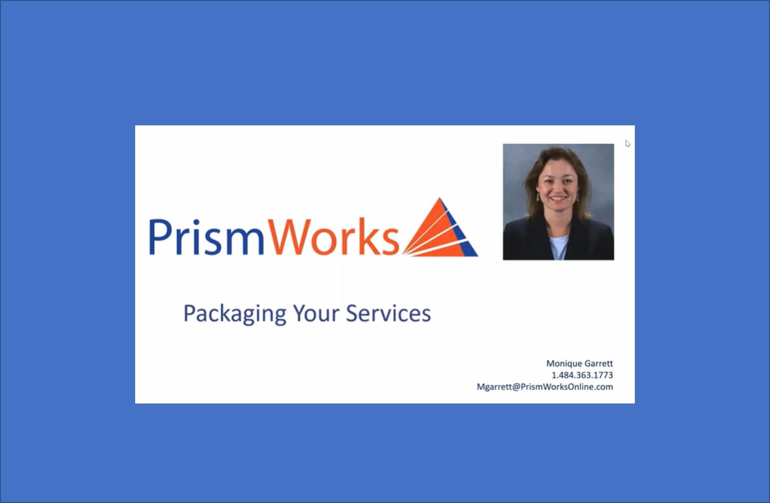 Monique Garrett, Prismworks Tells Us About