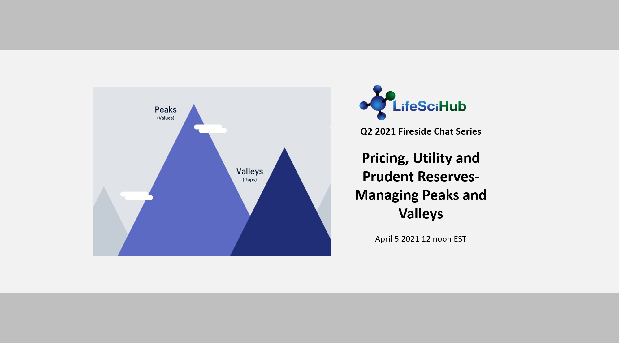 LifeSciHub Fireside:  Pricing, Utility and Prudent Reserves- Managing Peaks and Valleys- Recording Available for Members