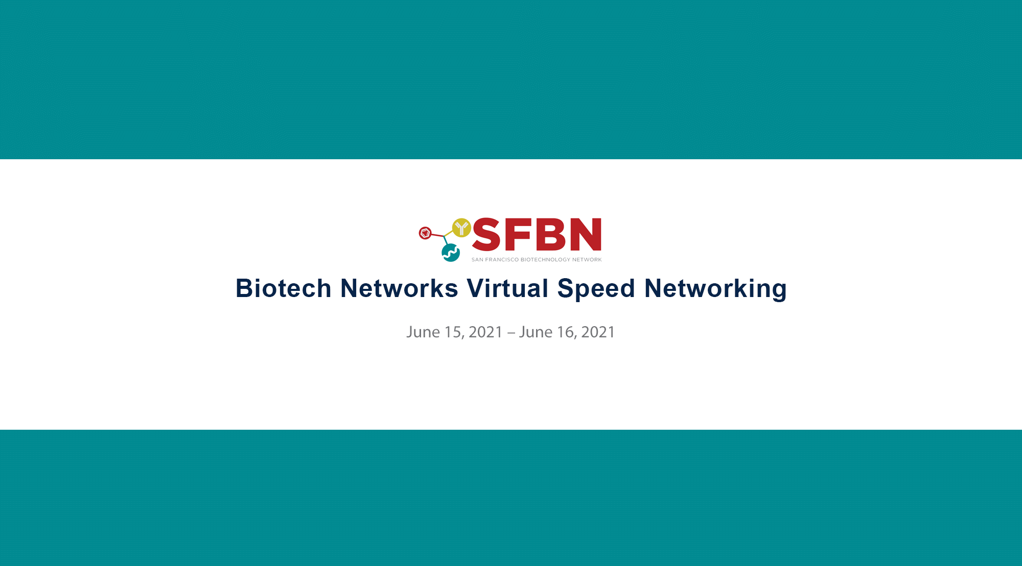 Biotech Networks Virtual Speed Networking