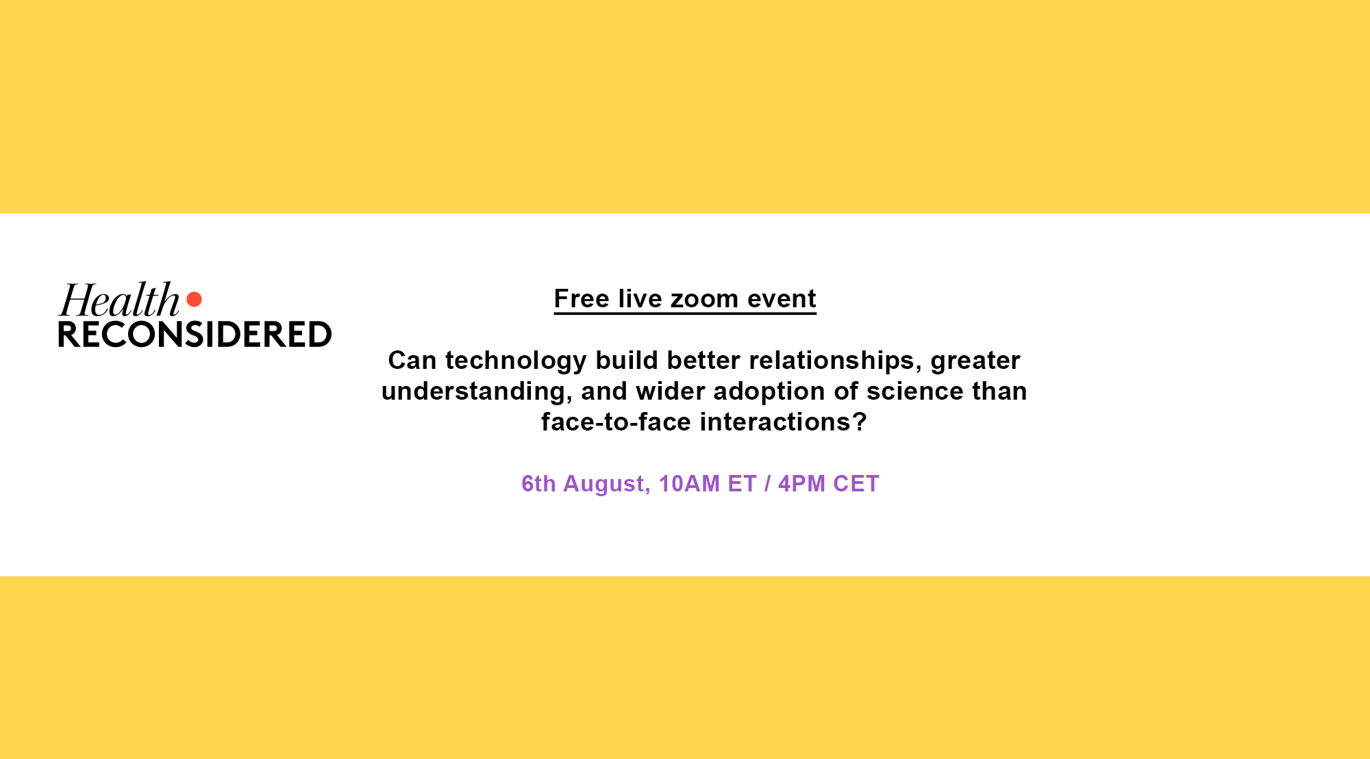 Can technology build better relationships, greater understanding, and wider adoption of science than face-to-face interactions?