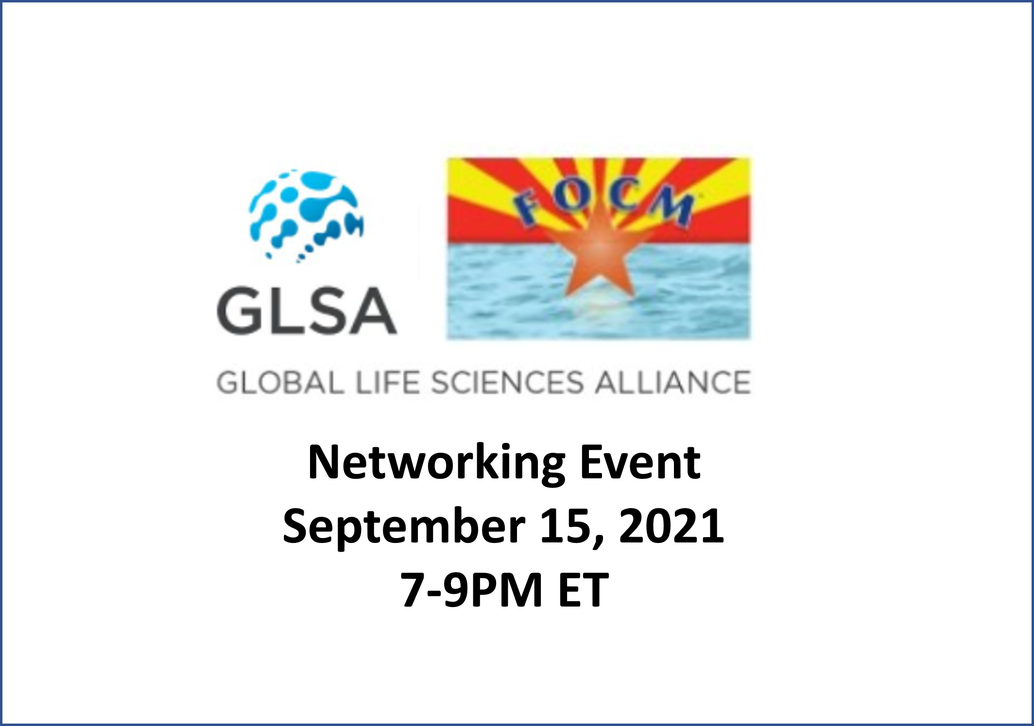 Global Life Sciences Alliance Monthly Networking Event