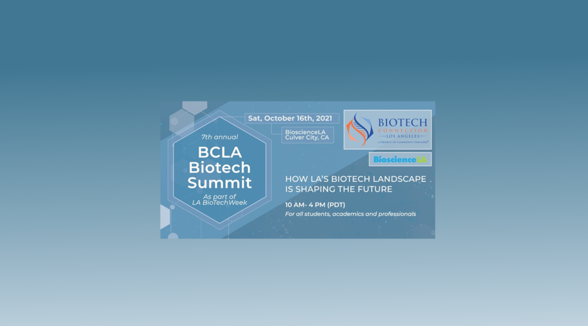 BCLA's 7th Annual Biotech Summit